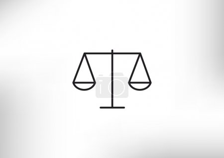 Illustration for Scales of justice simple web icon, outline vector illustration - Royalty Free Image
