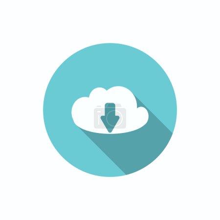 Cloud file download symbol