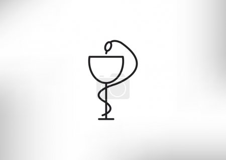 Pharmacy symbol with snake and cup