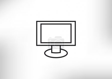 Monitor with blank screen icon