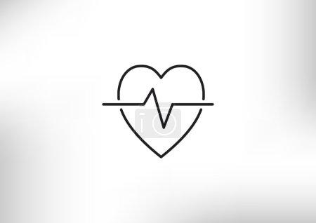 Cardiology symbol simple icon, outline vector illu...