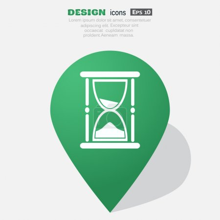 Sand clock web icon