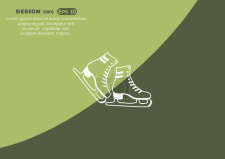 Skate shoes web icon
