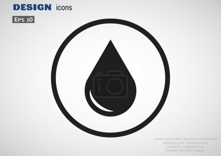 Liquid droplet icon