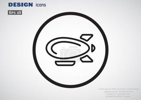 Airship zeppelin web icon