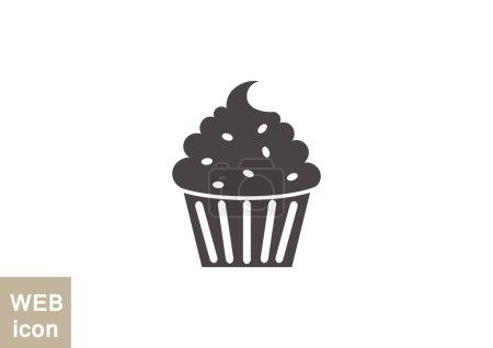 Cupcake dessert web icon