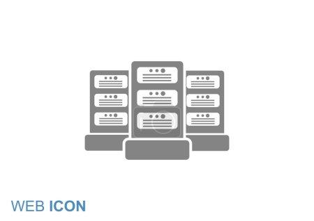 Illustration pour Icône web serveurs de données, illustration vectorielle de contour simple - image libre de droit