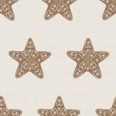Vánoční hvězda cookie vzor