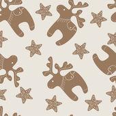 Vzorek s Vánoční sobí a hvězda soubory cookie