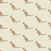 Seamless background with kangaroos isolated on beige For holiday decoration textile wrapping paper wallpaper gift boxes other packing elements