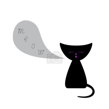 Kitten with speech bubble
