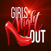 Girl Night Out Party Design Vector illustration