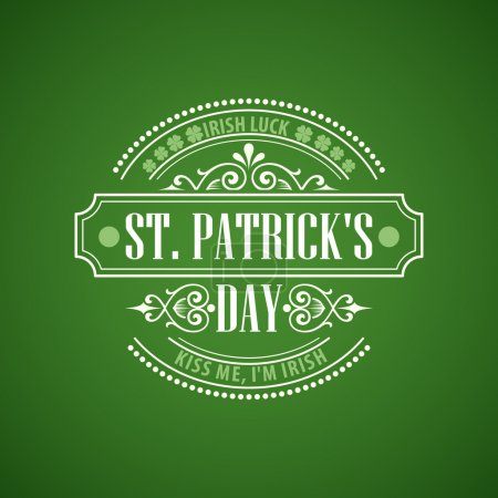 Typographie St. Patricks Day. Illustration vectorielle Eps 10