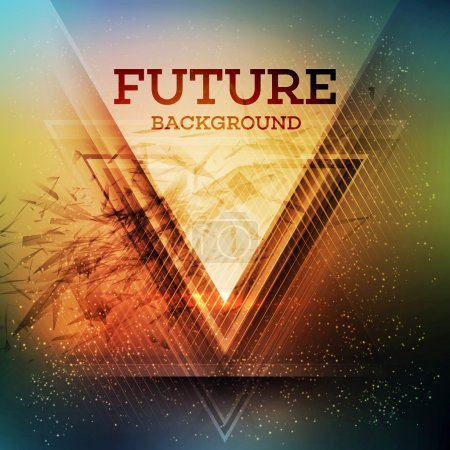 Futuristic triangle background
