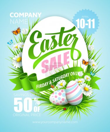 Illustration for Easter poster. Vector illustration - Royalty Free Image