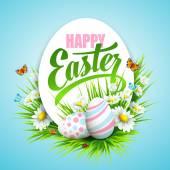 Easter poster Vector illustration
