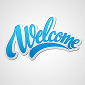 Welcome lettering Vector illustration