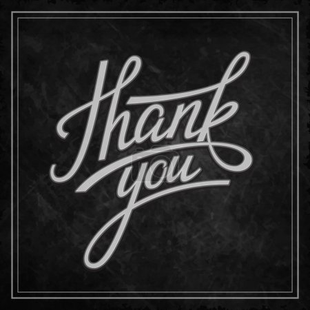 Illustration for Lettering Thank you. Vector illustration - Royalty Free Image