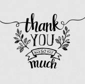 Lettering Thank you Vector illustration