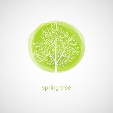 Illustration for Tree of Love. Logo Vector illustration. EPS 10 - Royalty Free Image