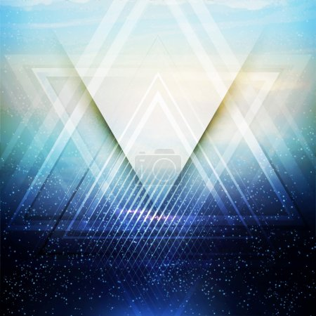 Illustration for Abstract triangle future vector background  EPS 10 - Royalty Free Image