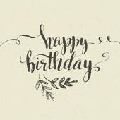 Happy Birthday Hand-drawn card Vector illustration