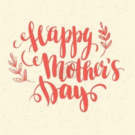 Illustration for Happy Mothers Day. Hand-drawn card. Vector illustration - Royalty Free Image