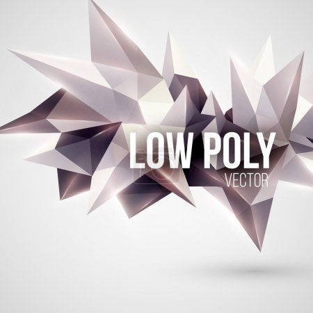 Illustration for Low poly triangular background. Design element. Vector illustration EPS 10 - Royalty Free Image