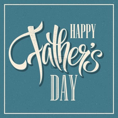 Photo for Happy Fathers Day. Hand lettering card. Vector illustration EPS 10 - Royalty Free Image