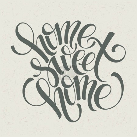 Photo for Home sweet home hand lettering, vector illustration Eps 10 - Royalty Free Image