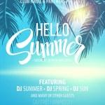 Hello Summer Beach Party Flyer. Vector Design EPS ...