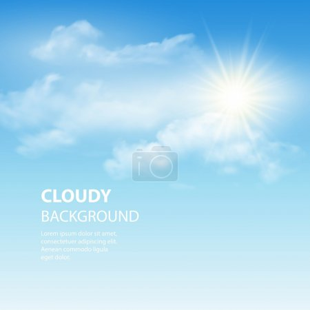 Illustration for Blue sky background with tiny clouds. Vector illustration EPS 10 - Royalty Free Image