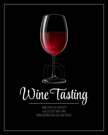 Illustration pour Modèle de flyer de dégustation de vin. Illustration vectorielle SPE 10 - image libre de droit