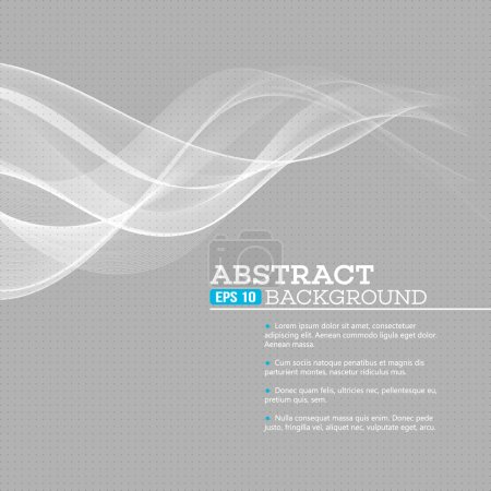 Illustration for Vector gray wave abstract background EPS 10 - Royalty Free Image