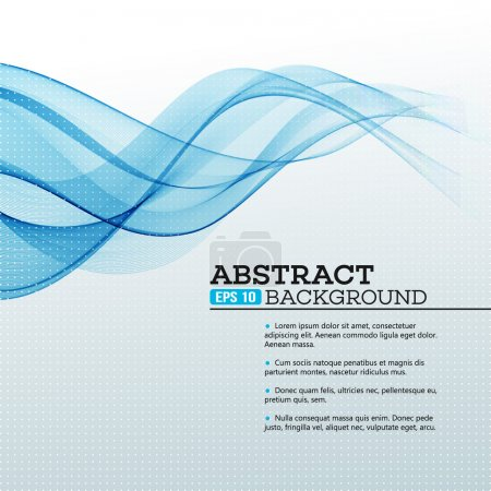 Illustration for Blue Abstract waves background. Vector illustration EPS 10 - Royalty Free Image