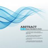 Blue Abstract waves background Vector illustration