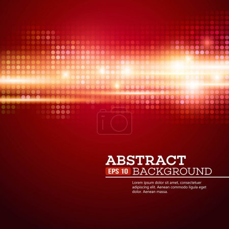 Illustration for Abstract  bokhe lights background. Disco music. Vector illustration. EPS 10 - Royalty Free Image