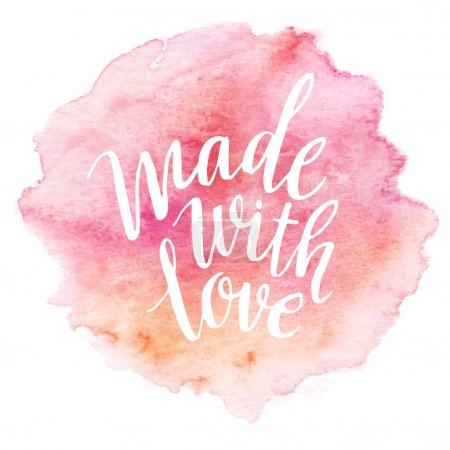 Photo for Made with love. Watercolor lettering. Vector illustration EPS 10 - Royalty Free Image