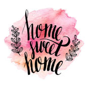 Home sweet home hand drawn inspiration lettering quote EPS 10