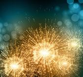 Celebrate party sparkler little fireworks Vector illustration
