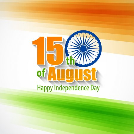 Photo for Creative Indian Independence Day concept. Vector illustration EPS 10 - Royalty Free Image
