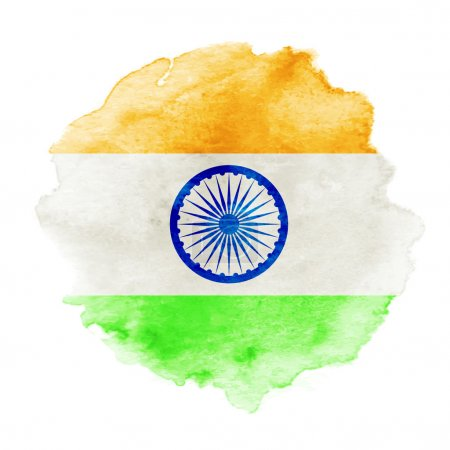 Photo for Vector indian flag in watercolor background. Concept Indian Independence Day celebrations. EPS 10 - Royalty Free Image