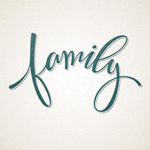 Hand drawn lettering Family Vector illustration EPS 10