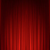 Theater stage with red curtain Vector illustration EPS 10