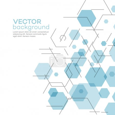 Illustration for Abstract background with hexagons. Vector illustration EPS 10 - Royalty Free Image