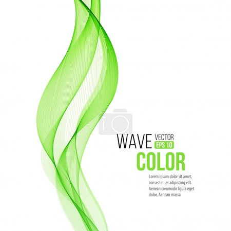 Illustration for Vector Abstract color curved lines background. Template brochure design. Smoke lines - Royalty Free Image