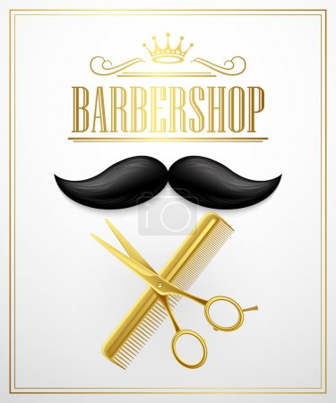 Photo for Poster Barbershop welcome. Vector Illustration EPS 10 - Royalty Free Image