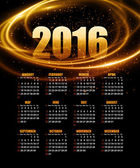 Calendar for 2016 on abstract background Vector illustration