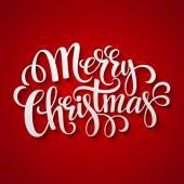 Merry Christmas Lettering design Vector illustration
