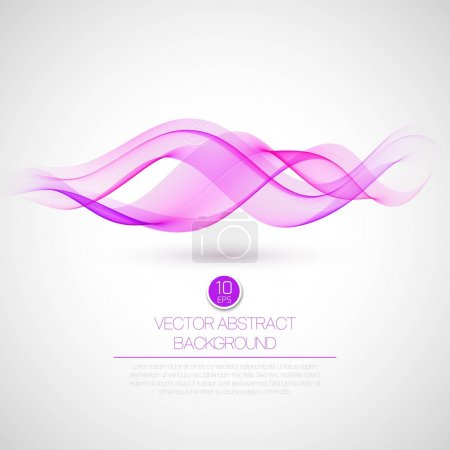 Illustration for Wave smoke abstract background. Vector illustration EPS10 - Royalty Free Image
